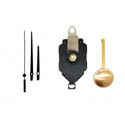 Mécanisme d'horloge à balancier + aiguilles droites courtes 6,2/9,5cm DIY