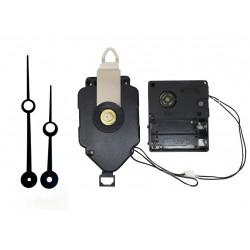 Mécanisme d'horloge à balancier + sonnerie + aiguilles trou 8,8/11,5cm DIY