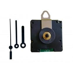 Mécanisme d'horloge radiopiloté + aiguilles droites très courtes 3.8/5cm pour cadran jusqu'à 6mm d'épaisseur