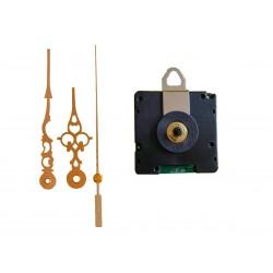 Mécanisme d'horloge radiopiloté + aiguilles style dorée 6.8/9.8cm