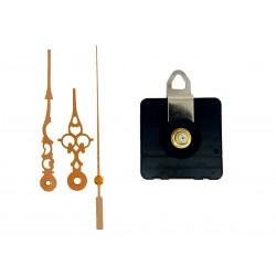 Mécanisme d'horloge au choix + aiguilles style dorées 6,8/9,8cm