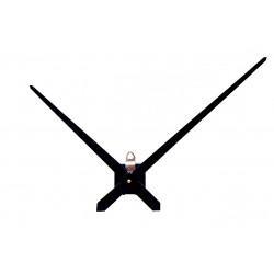 Mécanisme d'horloge + grandes aiguilles extra-longues effilées 23.8/31.4cm DIY pour cadran très épais