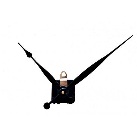 Mécanisme d'horloge + grandes aiguilles poire allongées 15.4/20.9cm DIY pour cadran épais