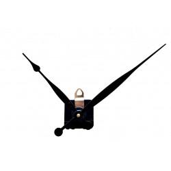 Mécanisme SILENCIEUX d'horloge + grandes aiguilles poire allongées 15.4 et 20.9cm pour cadran épais