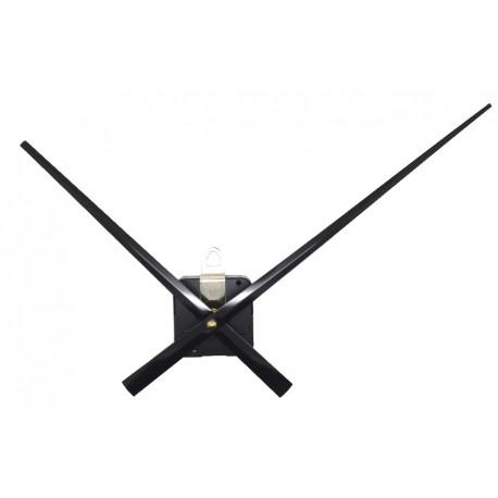 Mécanisme d'horloge + grandes aiguilles droites 17/24 cm DIY