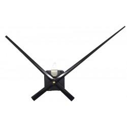 Mécanisme d'horloge + grandes aiguilles droites 17/24 cm DIY pour cadran très épais