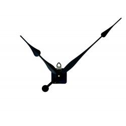 Mécanisme d'horloge + grandes aiguilles poire extra-longues 20.5/30.5cm DIY pour cadran très épais