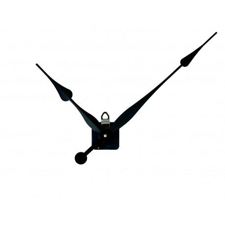 Mécanisme d'horloge + grandes aiguilles poire extra-longues 20.5/30.5cm DIY
