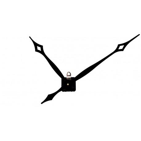Mécanisme d'horloge AU CHOIX + aiguilles pointes extra-longues 23.8/31.7cm DIY