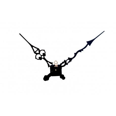 Mécanisme d'horloge AU CHOIX + aiguilles ciselées extra-longues 25/30cm DIY