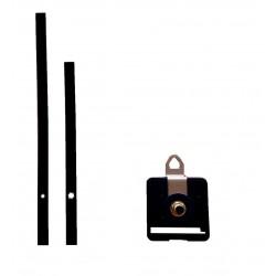 Mécanisme d'horloge AU CHOIX + aiguilles droites longues 13 et 18 cm