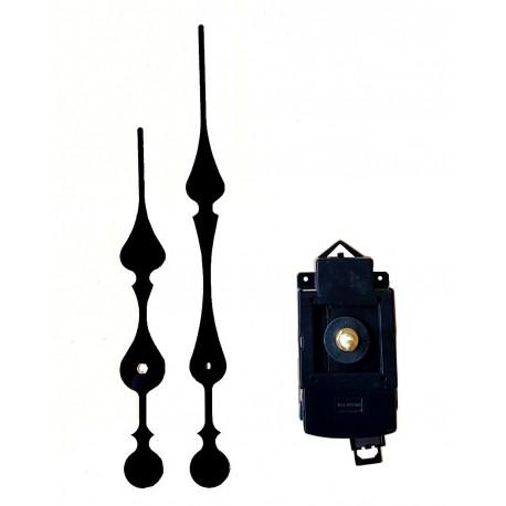 Mécanisme d'horloge à balancier AU CHOIX + grandes aiguilles style 14.5/20.7cm DIY