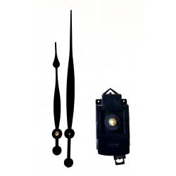 Mécanisme d'horloge à balancier AU CHOIX + grandes aiguilles poire allongées 15.4/20.9cm DIY