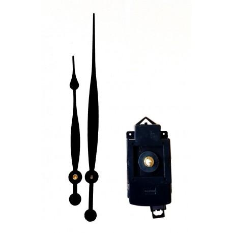 Mécanisme d'horloge à balancier AU CHOIX + grandes aiguilles poire 17/23cm DIY