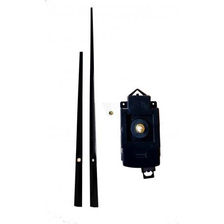 Mécanisme d'horloge à balancier AU CHOIX + grandes aiguilles droites effilées 17/24cm DIY