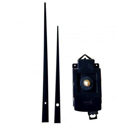 Mécanisme d'horloge à balancier AU CHOIX + grandes aiguilles droites effilées 16/20cm DIY