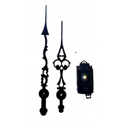 Mécanisme d'horloge à balancier AU CHOIX + Mécanisme et aiguilles ciselées 25 et 30 cm DIY