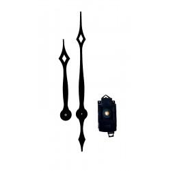 Mécanisme d'horloge à balancier AU CHOIX + aiguilles pointes extra-longues 23.8/31.7cm
