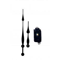Mécanisme d'horloge à balancier AU CHOIX + aiguilles extra-longues poire 20.5/30.5cm DIY