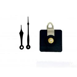 Mécanisme d'horloge AU CHOIX + aiguilles pointes courtes 6,9/9,2cm