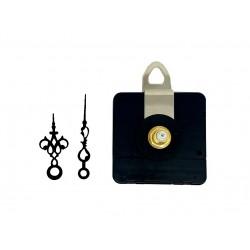 Mécanisme d'horloge AU CHOIX + aiguilles style très courtes 3.7/4.7cm