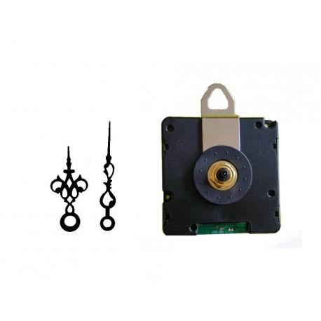 Mécanisme d'horloge radiopiloté + aiguilles style très courtes pour cadran jusqu'à 6mm d'épaisseur