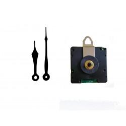 Mécanisme d'horloge radiopiloté + aiguilles pointes courtes 6.9/9.2cm