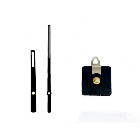 Mécanisme d'horloge AU CHOIX + aiguilles droites ajourées 8 et 12.7cm