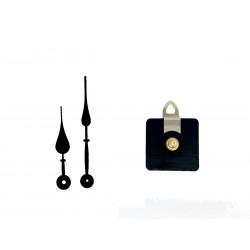 Mécanisme d'horloge AU CHOIX + aiguilles poire 9.3 et 12.6 cm