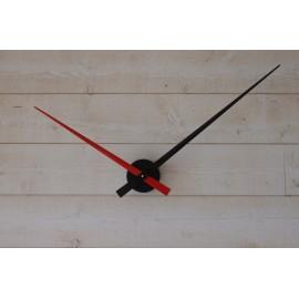 Horloge géante minimaliste Rouge-Noire