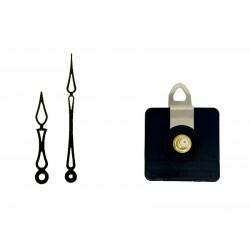 Mécanisme d'horloge AU CHOIX + aiguilles art déco 6.8 et 10cm