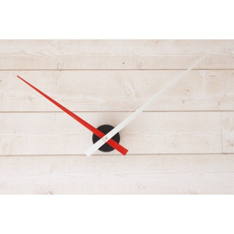 Horloge géante minimaliste Rouge-Blanche