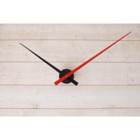 Horloge géante minimaliste Noire-Rouge