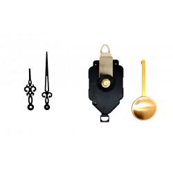 Mécanisme d'horloge à balancier + aiguilles rétro 7.1 et 10.1cmDIY
