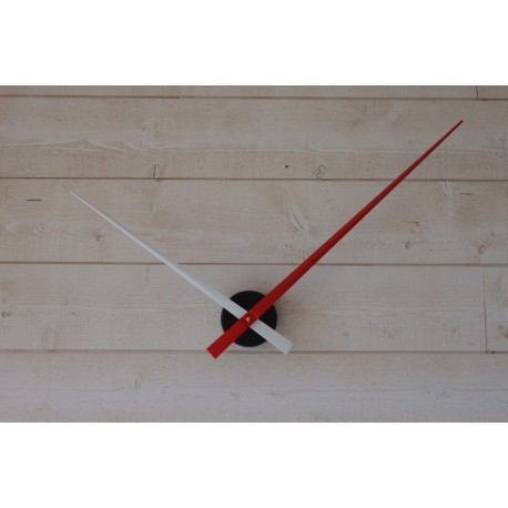 Horloge géante minimaliste Blanche-Rouge