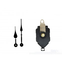 Mécanisme d'horloge à balancier + aiguilles poire 9.3 et 12.6cm DIY