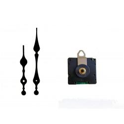 Mécanisme d'horloge radiopiloté + aiguilles style 8.2/11.7cm