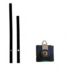 Mécanisme d'horloge radiopiloté + aiguilles pointes courtes pour cadran jusqu'à 6mm d'épaisseur