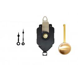 Mécanisme d'horloge à balancier + aiguilles pointes 3.9 et 4.9 cm