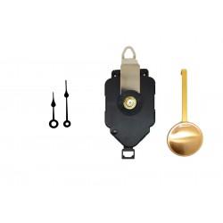 Mécanisme d'horloge à balancier + aiguilles poires 4.1 et 5.4 cm