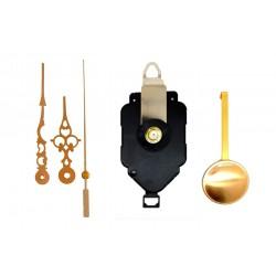 Mécanisme d'horloge à balancier + aiguilles style dorées 6.8/9.8cm DIY