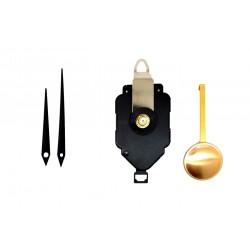 Mécanisme d'horloge à balancier + aiguilles droites effilées 7 et 9.2cm DIY