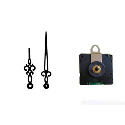 Mécanisme d'horloge radiopiloté + aiguilles Rétro 7.1 et 10.1cm