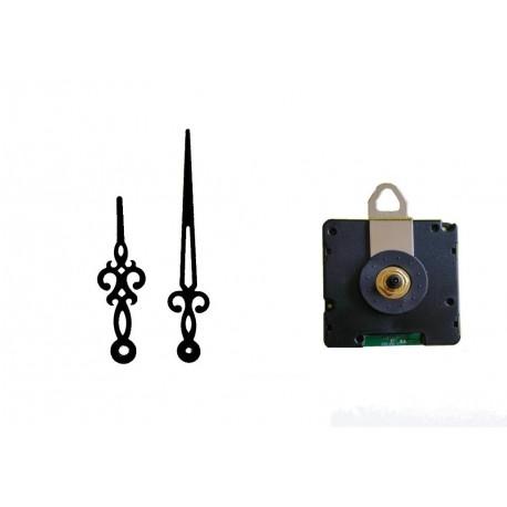 Mécanisme d'horloge radiopiloté + aiguilles droites courtes 6.2/9.5cm