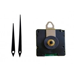 Mécanisme d'horloge radiopiloté + aiguilles droites effilées 7 et 9.2cm