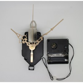 Mécanisme d'horloge à balancier + sonnerie + aiguilles style dorées 6.8/9.8cm DIY