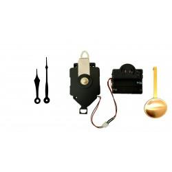 Mécanisme d'horloge à balancier + sonnerie + aiguilles pointes courtes 6.9 et 9.2cm DIY