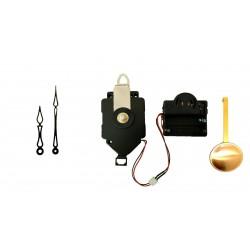 Mécanisme d'horloge à balancier + sonnerie + aiguilles art déco 6.8 et 10cm DIY