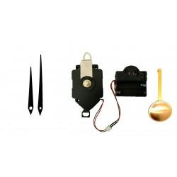 Mécanisme d'horloge à balancier + sonnerie + aiguilles droites effilées 7 et 9.2cm DIY