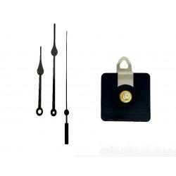 Mécanisme d'horloge AU CHOIX + aiguilles poire 8.5/11.5cm